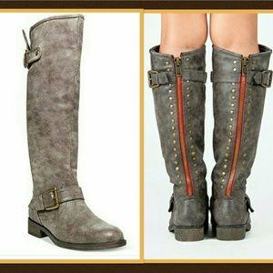Madden Girl Cactuss Studded Zipper Boots Size 6